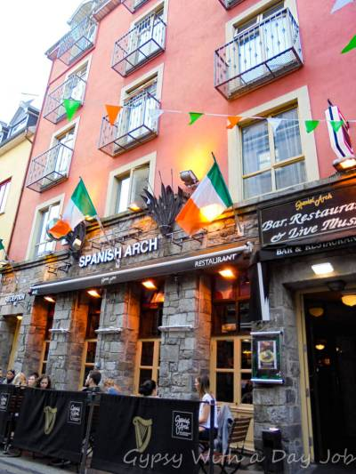 The Spanish Arch Hotel, Galway, on our Ireland route, and Ireland itinerary.