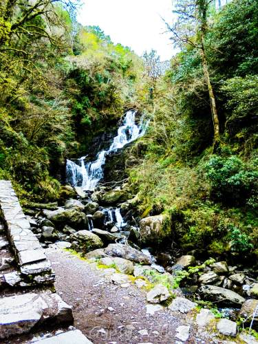 Torc Waterfall, Muckross Estate, County Kerry Ireland, one of our Ireland Highlights on our Ireland itinerary.