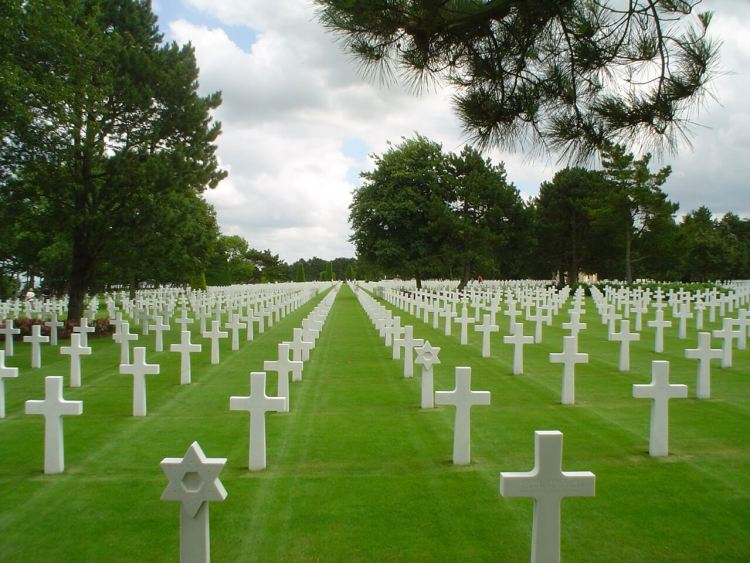 Normandy Beaches Sites of Remembrance American Cemetery.