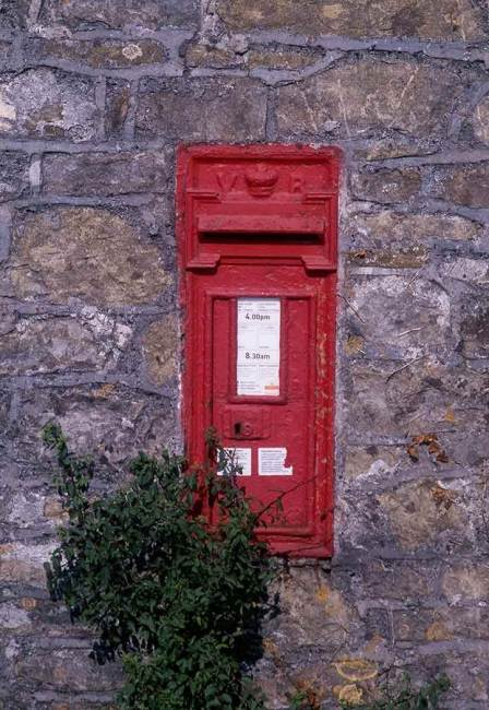 Delivering love letters, workers around the world, victorian post box, wales.