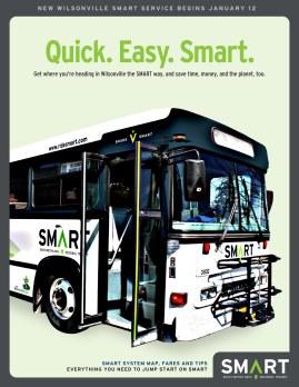 Wilsonville SMART Transit identity: Grand opening poster (Creative Director: Matt Giraud)