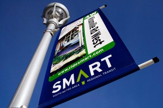 Wilsonville SMART Transit identity: Route banner (Creative Director: Matt Giraud)