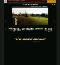 Reed Centennial: a component of the reunions website where viewers can see and share the then/now images we created.
