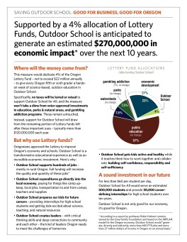 Outdoor School for All funding leave-behind, by Gyroscope Creative