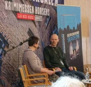 Interview med Dennis Jürgensen. Foto: Bibliofilens boghjørne