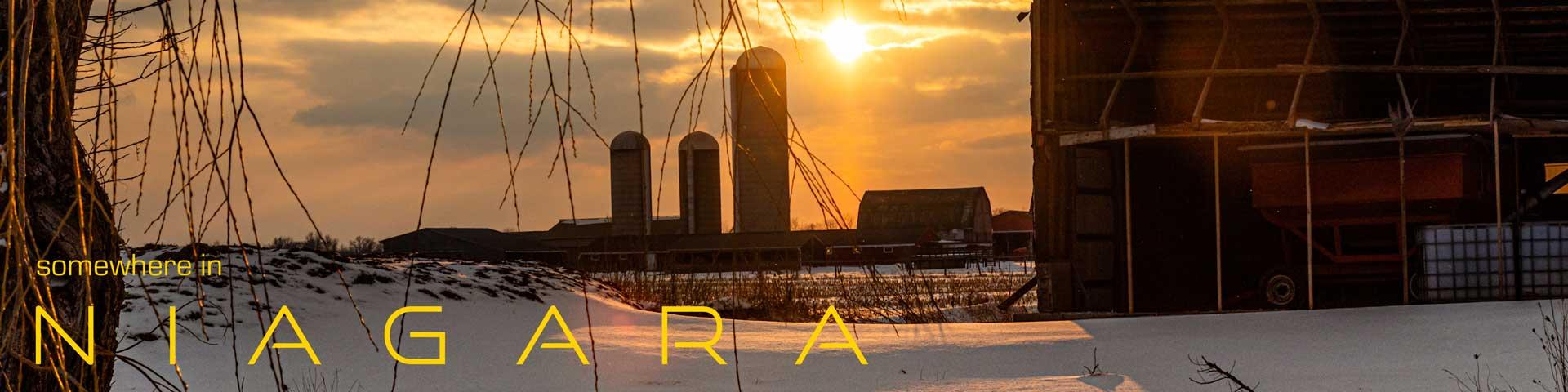 Somewhere In Niagara - Winter Sun on Snow