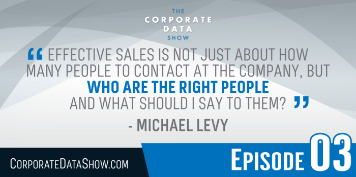 """""""Effective sales is not just about how many people to contact at the company, but who are the right people and what should I say to them."""""""