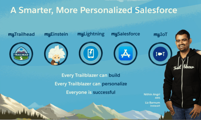 "One of the key themes of Dreamforce 2017 was the ability of companies to customize the branding and content within Salesforce clouds via ""clicks, not code."""