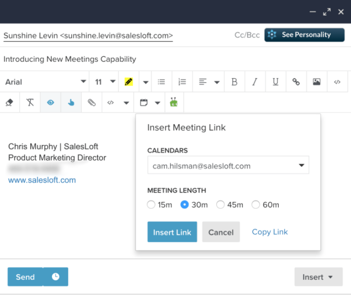 One of the New Features Being Shown at Rainmaker 2018 is an Integrated Meeting Schedule.