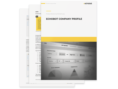 Echobot Company Profile Report Cover Page