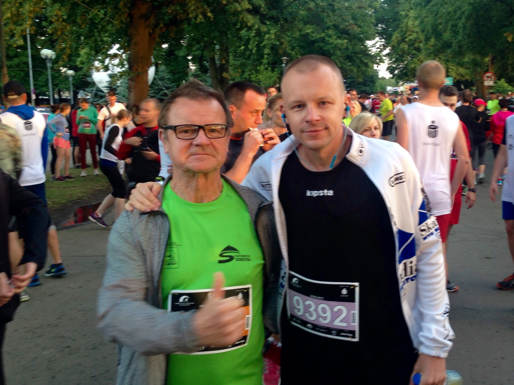 Before half-marathon with my father