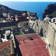 Basketball court in the Old Town of Dubrovnik