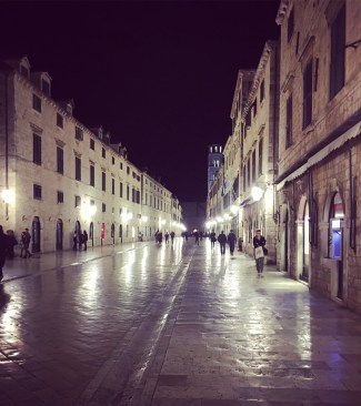 Old Town of Dubrovnik by night