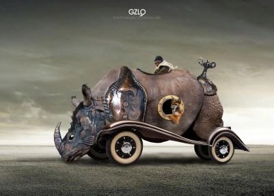 Ref: GZLo – 191. Rhinocerator: 22cm x 16cm - Photocreation: Gonzalo Villar