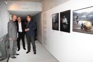 Comisario Polaco, Gonzalo Villar y Joan Gregori nex to my Art Works