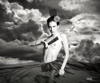 Model: Anhenmodel Art Work: Gonzalo Villar Photo: Sergey Bogomazov and Andrey Stanko