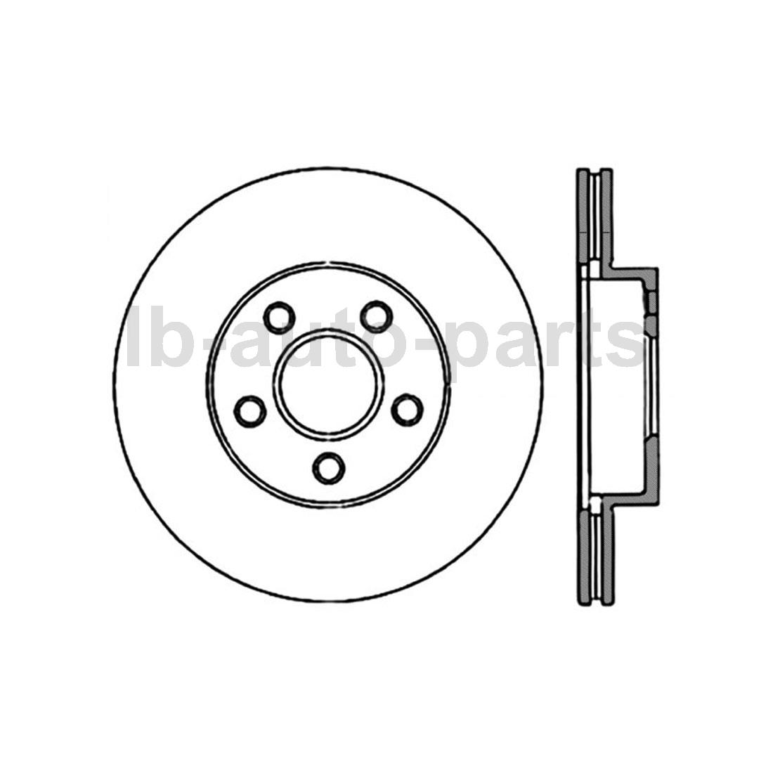 For Chevrolet Beretta Cavalier 2x Centric Parts Front Disc