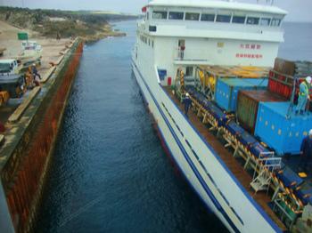 クレーン乗船