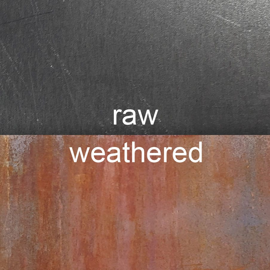 Raw Vs Weathered Corten A K A Cor Ten 174 Or Weathering