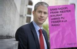 Sans HADOPI, Frank Riester n'aurait jamais pu frimer à la radio.