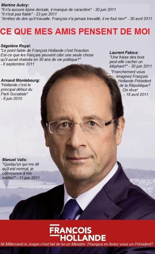 Les amis d'Hollande n'en disent pas que du bien...