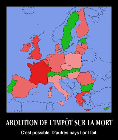 Impôt sur la mort en Europe
