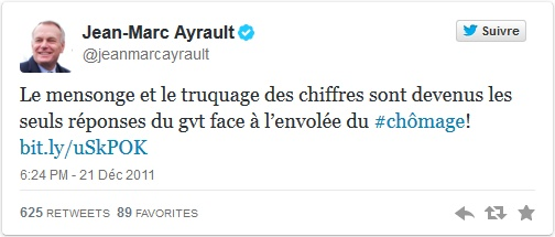 twitt ayrault chomage