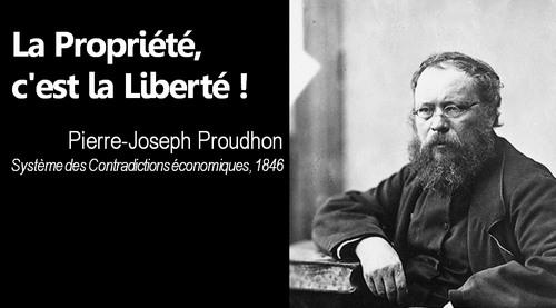 proudhon la propriété c'est la liberté