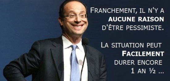 hollande optimiste encore 1,5 an