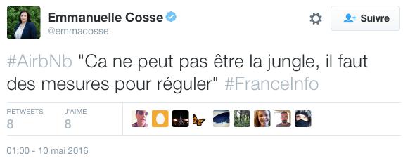 Emmanuelle Cosse sur airbnb