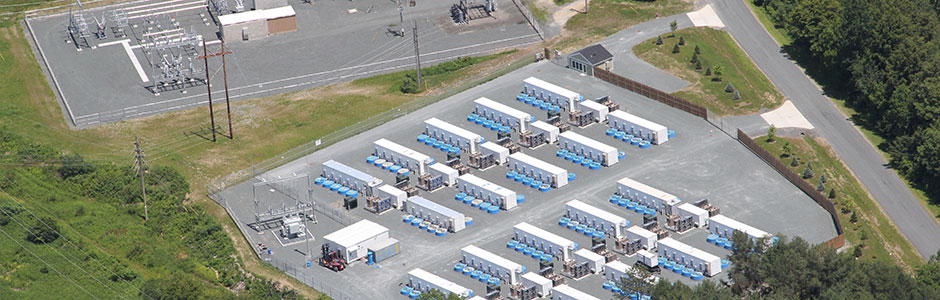 Flywheel energy storage farm in New York