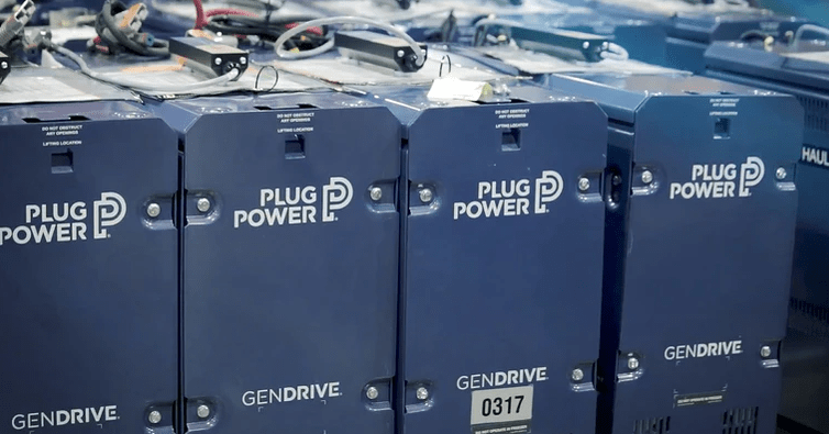 Hydrogen fuel cells by Plug Power.  A clean energy technology for the future.