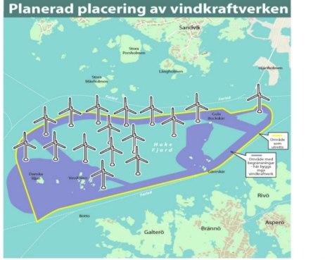 Vindkraftverk i Hake Fjord