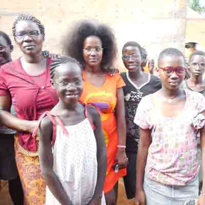 Children and Widows in Africa wearing H2HIntl donated glasses