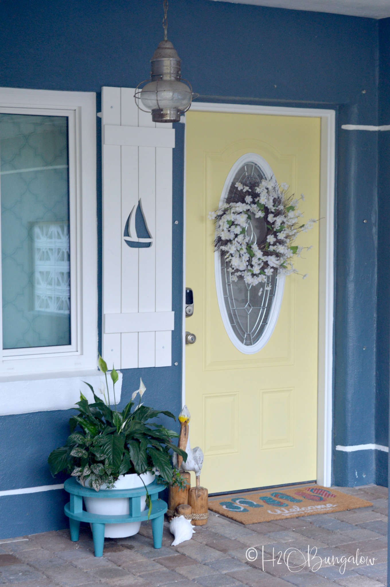How To Make Diy Shutters With Sailboat Cutouts H2obungalow