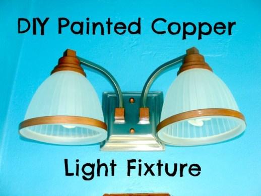 DIY Copper Painted Light Fixture
