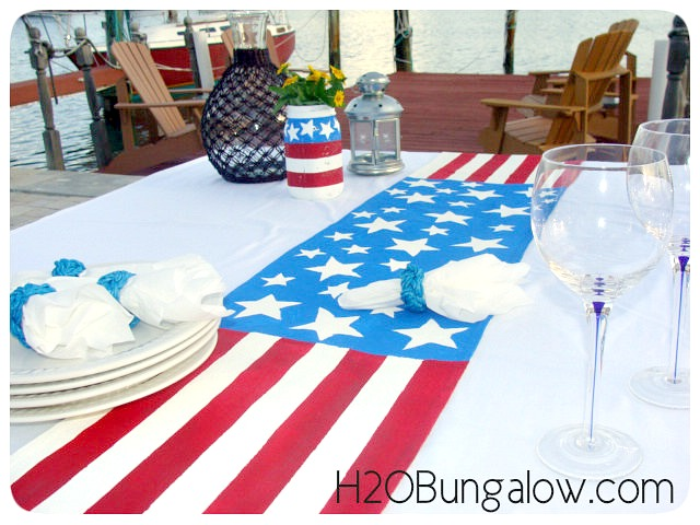 DIY-Patriotic-Table-Runner-Waterside-Dining-H2OBungalow
