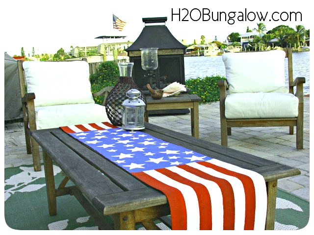 DIY-Patriotic-Table-Runner-on-Coffee-Table-H2OBungalow