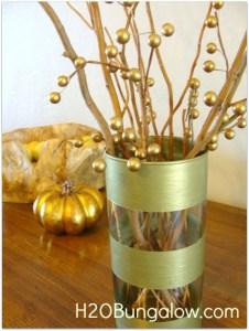 striped gold vase