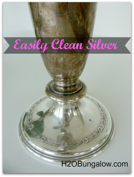 Naturally clean silver wthout stinky chemicals or lots of work using ingredients from your kitchen. It WORKS! www.H2OBungalow.com #cleaning #greencleaning