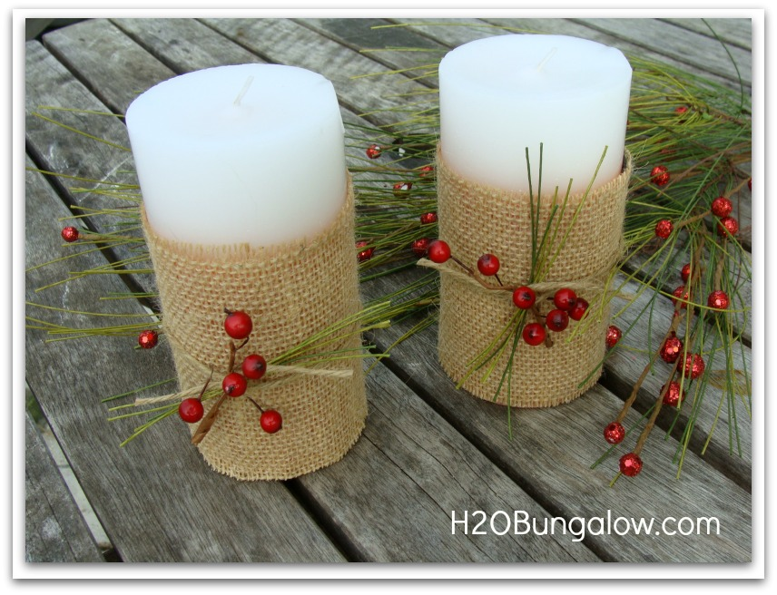 more decorated Holiday candles