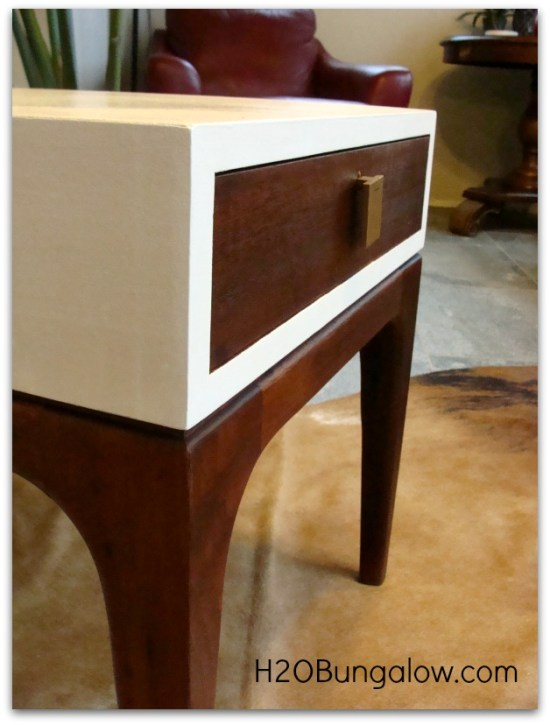 finished side view of my midcentury end table