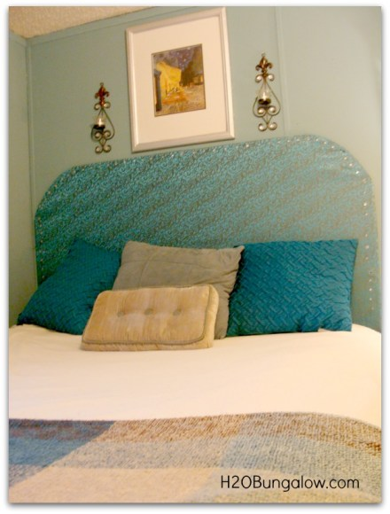 make your own headboard from foam board