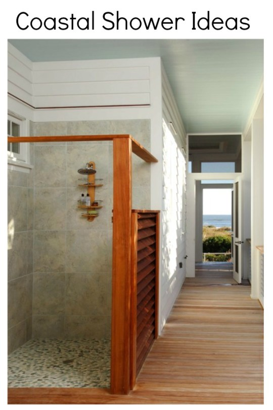 Coastal shower ideas using natural elements by H2OBungalow