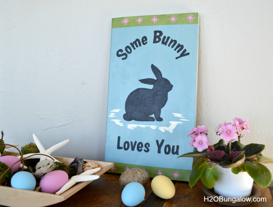 DIY Easter some bunny loves you sign by H2OBungalow