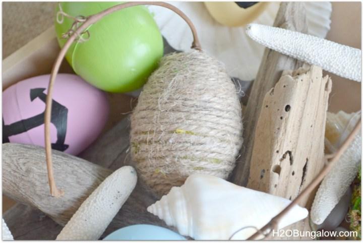 Jute covered Easter Egg
