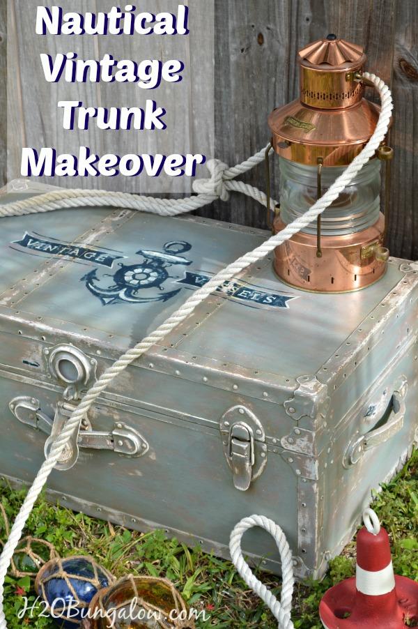 Nautical Trunk Makeover