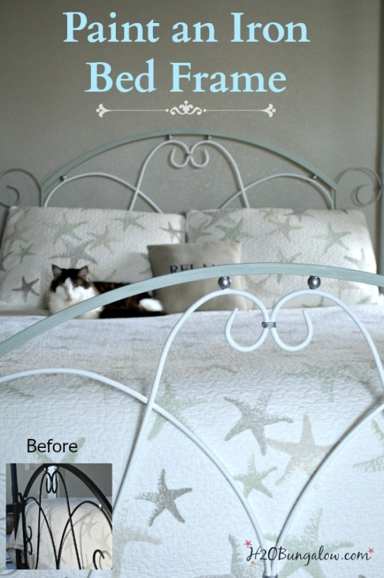 How-to-easily-paint-an-iron-or-metal-bed-frame-tutorial-by-H2OBungalow
