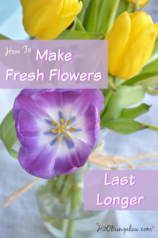 tricks to make fresh cut flowers last longer. Black Bedroom Furniture Sets. Home Design Ideas