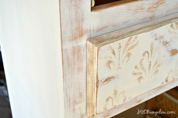 Distressed-dresser-with-gold-brush-trim-H2OBungalow